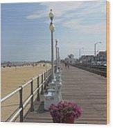 New Jersey Boardwalk Wood Print