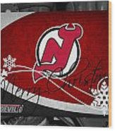 New Jersey Devils Christmas Wood Print