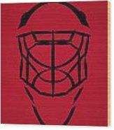 New Jersey Devils Goalie Mask Wood Print