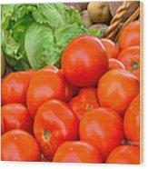 New Jersey Farm Market Goodness Wood Print