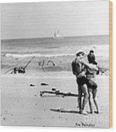 New Jersey Shore  1964 Wood Print by   Joe Beasley