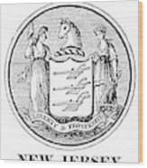 New Jersey State Seal Wood Print