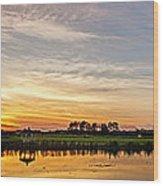 New Jersey Sunset Panoramic Wood Print