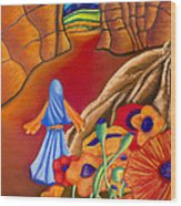 New Journey Way Wood Print