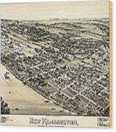 New Kensington Pennsylvania 1896 Wood Print