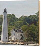 New London Harbor Lighthouse Wood Print