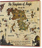 New Map Of The Kingdoms Of Magic Wood Print