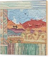 New Mexican Lanscape Wood Print