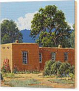 New Mexico Adobe Wood Print