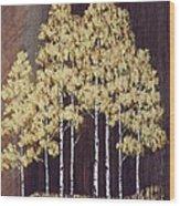 New Mexico Aspens 1 Wood Print