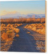 New Mexico Back Country Road Wood Print