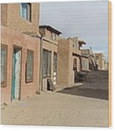 New Mexico Buildings Wood Print