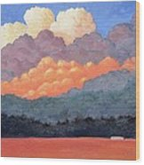 New Mexico Cloudscape  Wood Print