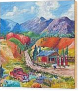 New Mexico Colors Wood Print