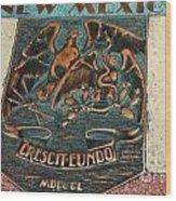 New Mexico Crescit Eundo Wood Print