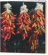New Mexico Red Chili Peppers Wood Print