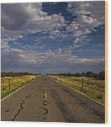 New Mexico Road 7 Wood Print