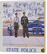 New Mexico State Police Poster Wood Print