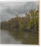 New Milford By Water Side Wood Print