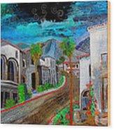 New Old Town La Quinta Wood Print
