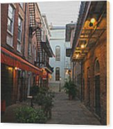 New Orleans Ally Wood Print