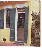 New Orleans - Bourbon Street 2 Wood Print