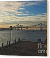 New Orleans Bridge Wood Print