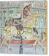 New Orleans Carousel Wood Print