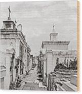 New Orleans: Cemetery Wood Print