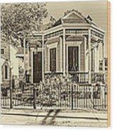 New Orleans Charm 2 Wood Print