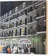 New Orleans - City At Night - 12122 Wood Print