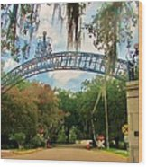 New Orleans City Park - Pizzati Gate Entrance Wood Print