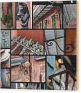 New Orleans Collage 2 Wood Print