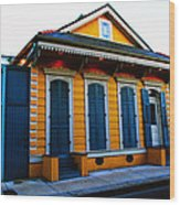 New Orleans Creole Cottage Wood Print