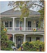 New Orleans Frat House Wood Print