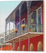 New Orleans French Quarter Architecture 2 Wood Print