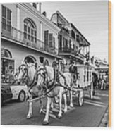 New Orleans Funeral Monochrome Wood Print