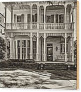 New Orleans Home - Paint Sepia Wood Print
