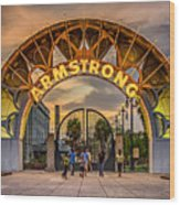 New Orleans Louis Armstrong Park  2 Wood Print