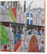 New Orleans - Mardi Gras Parades - 1212102 Wood Print