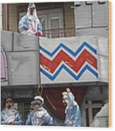 New Orleans - Mardi Gras Parades - 1212103 Wood Print