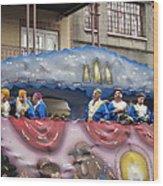 New Orleans - Mardi Gras Parades - 1212113 Wood Print