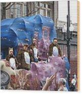 New Orleans - Mardi Gras Parades - 1212118 Wood Print