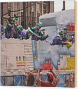 New Orleans - Mardi Gras Parades - 1212129 Wood Print