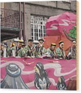 New Orleans - Mardi Gras Parades - 1212133 Wood Print