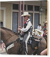 New Orleans - Mardi Gras Parades - 1212139 Wood Print