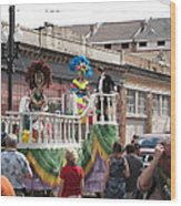 New Orleans - Mardi Gras Parades - 1212143 Wood Print