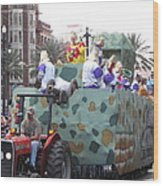 New Orleans - Mardi Gras Parades - 121215 Wood Print