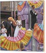 New Orleans - Mardi Gras Parades - 121267 Wood Print