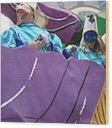 New Orleans - Mardi Gras Parades - 12127 Wood Print by DC Photographer